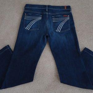 7 FOR ALL MANKIND Wide Leg Dojo Jean 30x30